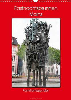 Fastnachtsbrunnen Mainz – Familienkalender (Wandkalender 2020 DIN A3 hoch) von DieReiseEule