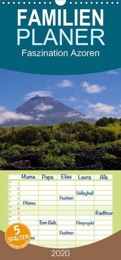 Faszination Azoren – Familienplaner hoch (Wandkalender 2020 , 21 cm x 45 cm, hoch) von Rieger,  Andreas