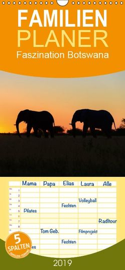 Faszination Botswana – Familienplaner hoch (Wandkalender 2019 , 21 cm x 45 cm, hoch) von Scholz,  Frauke