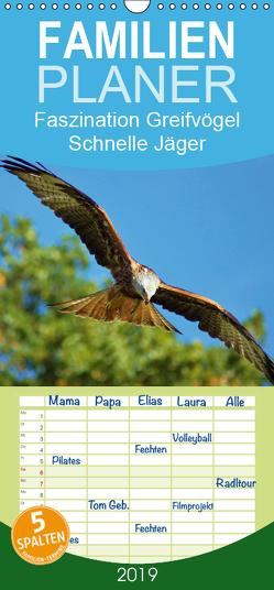 Faszination Greifvögel Schnelle Jäger – Familienplaner hoch (Wandkalender 2019 , 21 cm x 45 cm, hoch) von Klapp,  Lutz
