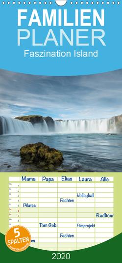 Faszination Island – Familienplaner hoch (Wandkalender 2020 , 21 cm x 45 cm, hoch) von Kobel,  Markus
