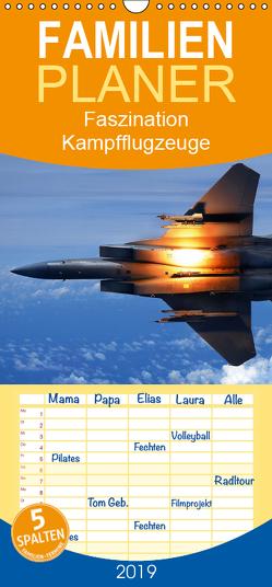 Faszination Kampfflugzeuge – Familienplaner hoch (Wandkalender 2019 , 21 cm x 45 cm, hoch) von Stanzer,  Elisabeth
