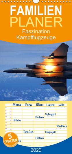 Faszination Kampfflugzeuge – Familienplaner hoch (Wandkalender 2020 , 21 cm x 45 cm, hoch) von Stanzer,  Elisabeth