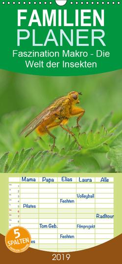Faszination Makro – Die Welt der Insekten – Familienplaner hoch (Wandkalender 2019 , 21 cm x 45 cm, hoch) von Potratz,  Andrea