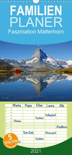 Faszination Matterhorn – Familienplaner hoch (Wandkalender 2021 , 21 cm x 45 cm, hoch) von Michel,  Susan