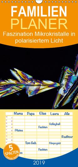 Faszination Mikrokristalle in polarisiertem Licht – Familienplaner hoch (Wandkalender 2019 , 21 cm x 45 cm, hoch) von Becker,  Thomas