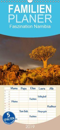 Faszination Namibia – Familienplaner hoch (Wandkalender 2019 , 21 cm x 45 cm, hoch) von Voss,  Michael