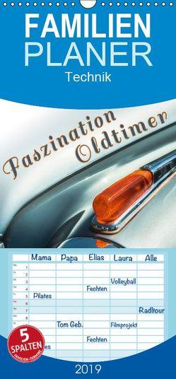 Faszination Oldtimer – Familienplaner hoch (Wandkalender 2019 , 21 cm x 45 cm, hoch) von D.,  Andy