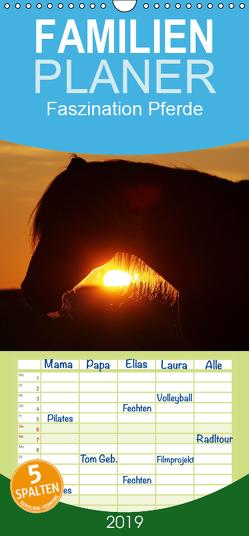 Faszination Pferde – Familienplaner hoch (Wandkalender 2019 , 21 cm x 45 cm, hoch) von Pöder,  Gert