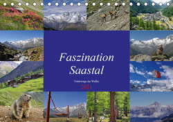 Faszination Saastal. Unterwegs im Wallis (Tischkalender 2021 DIN A5 quer) von Michel,  Susan