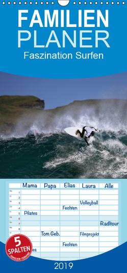 Faszination Surfen – Familienplaner hoch (Wandkalender 2019 , 21 cm x 45 cm, hoch) von Cross,  Martina