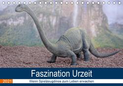 Faszination Urzeit – wenn Spielzeugdinos zum Leben erwachen (Tischkalender 2021 DIN A5 quer) von Bartruff,  Thomas