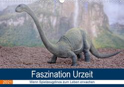 Faszination Urzeit – wenn Spielzeugdinos zum Leben erwachen (Wandkalender 2021 DIN A3 quer) von Bartruff,  Thomas