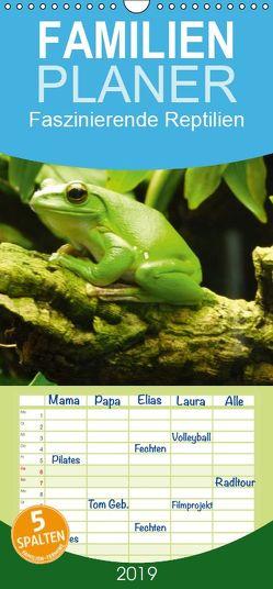 Faszinierende Reptilien – Familienplaner hoch (Wandkalender 2019 , 21 cm x 45 cm, hoch) von Herkenrath,  Sven