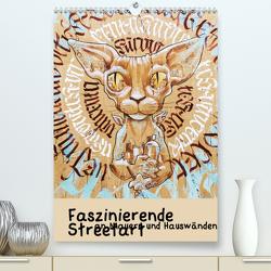 Faszinierende Streetart an Mauern und Hauswänden (Premium, hochwertiger DIN A2 Wandkalender 2021, Kunstdruck in Hochglanz) von Müller,  Christian