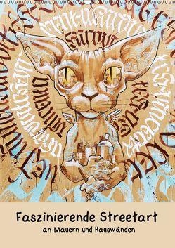 Faszinierende Streetart an Mauern und Hauswänden (Wandkalender 2018 DIN A2 hoch) von Müller,  Christian