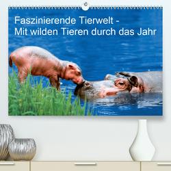 Faszinierende Tierwelt – Mit wilden Tieren durch das Jahr (Premium, hochwertiger DIN A2 Wandkalender 2020, Kunstdruck in Hochglanz) von Wegner,  Petra
