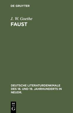 Faust von Goethe,  J. W.