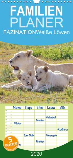 FAZINATION Weiße Löwen – Familienplaner hoch (Wandkalender 2020 , 21 cm x 45 cm, hoch) von Thula