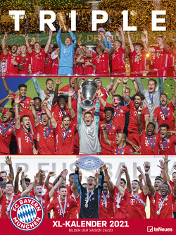 FC Bayern München 2021 – Poster-Kalender-XL – Fan-Kalender – Fußball-Kalender – 48×64 – Sport
