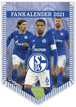 FC Schalke 04 2021 – Bannerkalender – Fan-Kalender – Fußball-Kalender – Wand-Kalender – 29,7×42 – Sport