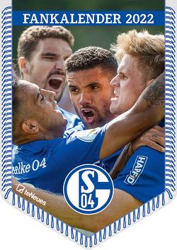 FC Schalke 04 2022 – Bannerkalender – Fan-Kalender – Fußball-Kalender – Wand-Kalender – 29,7×42 – Sport