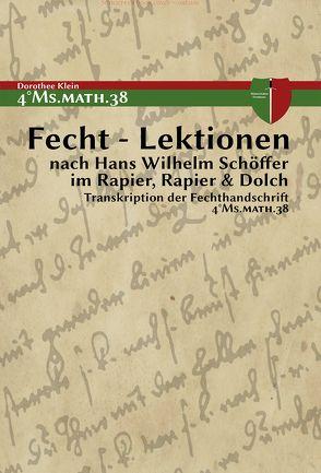 Fecht – Lektionen von Klein,  Dorothee