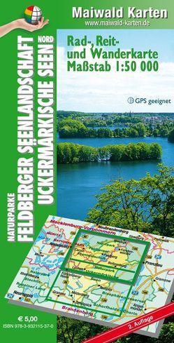 Feldberg Nord – Rad-, Reit- u. Wanderkarte – Feldberger Seenlandschaft, Uckermärkische Seen – Karte Nord von Maiwald,  Detlef sen. u. Björn jr.
