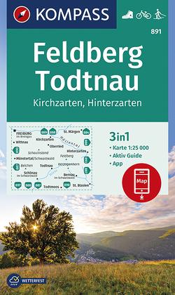 Feldberg, Todtnau, Kirchzarten, Hinterzarten von KOMPASS-Karten GmbH