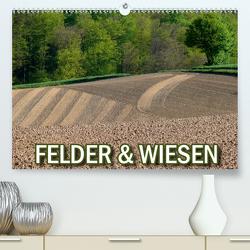 Felder und Wiesen (Premium, hochwertiger DIN A2 Wandkalender 2021, Kunstdruck in Hochglanz) von Geduldig,  Bildagentur