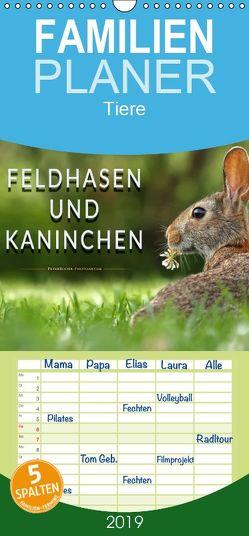 Feldhasen und Kaninchen – Familienplaner hoch (Wandkalender 2019 , 21 cm x 45 cm, hoch) von Roder,  Peter