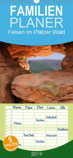 Felsen im Pfälzer Wald – Familienplaner hoch (Wandkalender 2019 , 21 cm x 45 cm, hoch) von Ebardt,  Michael