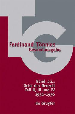 Ferdinand Tönnies: Gesamtausgabe (TG) / 1932-1936 von Carstens,  Bärbel, Carstens,  Uwe