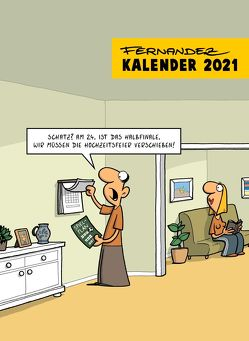 Fernandez Cartoon-Wandkalender 2021: Monatskalender von Fernandez,  Miguel