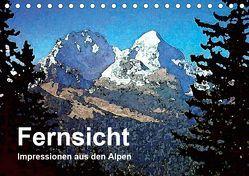 Fernsicht – Impressionen aus den Alpen (Tischkalender 2019 DIN A5 quer) von Küster,  Friederike