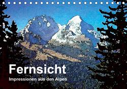 Fernsicht – Impressionen aus den Alpen (Tischkalender 2021 DIN A5 quer) von Küster,  Friederike
