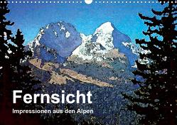 Fernsicht – Impressionen aus den Alpen (Wandkalender 2021 DIN A3 quer) von Küster,  Friederike