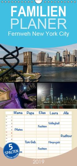 Fernweh New York City – Familienplaner hoch (Wandkalender 2019 , 21 cm x 45 cm, hoch) von Krause,  Kurt