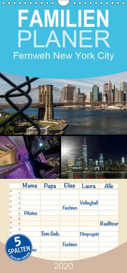 Fernweh New York City – Familienplaner hoch (Wandkalender 2020 , 21 cm x 45 cm, hoch) von Krause,  Kurt