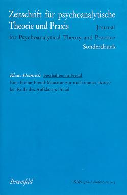 Festhalten an Freud von Heinrich,  Klaus