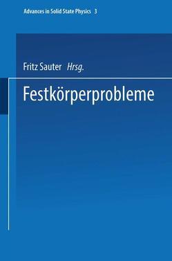 Festkörperprobleme von Sauter,  F.