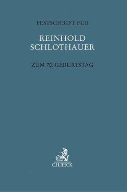 Festschrift für Reinhold Schlothauer zum 70. Geburtstag von Barton,  Stephan, Fischer,  Thomas, Jahn,  Matthias, Park,  Tido