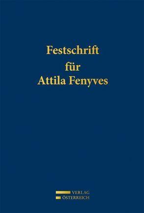 Festschrift für Attila Fenyves von Perner,  Stefan, Rubin,  Daniel, Spitzer,  Martin, Vonkilch,  Andreas