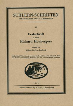 Festschrift zu Ehren Richard Heubergers von Fischer,  Wilhelm