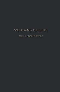 Festschrift zum 75. Geburtstag von Heilmeyer,  L., Herken,  H., Heubner,  Wolfgang, Lendle,  L.