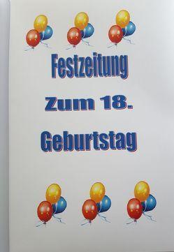Festzeitung zum 18. Geburtstag von Velten,  Marita