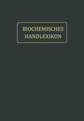 Fette, Wachse, Phosphatide, Protagon, Cerebroside, Sterine, Gallensäuren von Abderhalden,  Emil