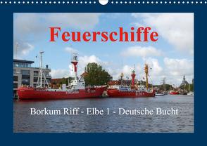 Feuerschiffe – Borkum Riff – Elbe 1 – Deutsche Bucht (Wandkalender 2021 DIN A3 quer) von Poetsch,  Rolf