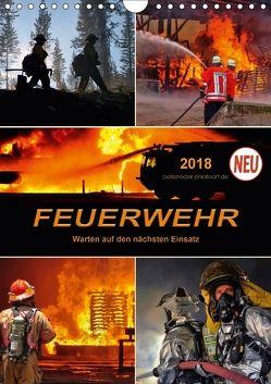 Feuerwehr – Warten auf den nächsten Einsatz (Wandkalender 2018 DIN A4 hoch) von Roder,  Peter