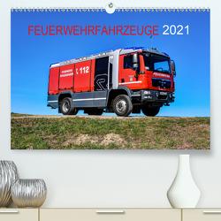 Feuerwehrfahrzeuge (Premium, hochwertiger DIN A2 Wandkalender 2021, Kunstdruck in Hochglanz) von PHOTOART & MEDIEN,  MH
